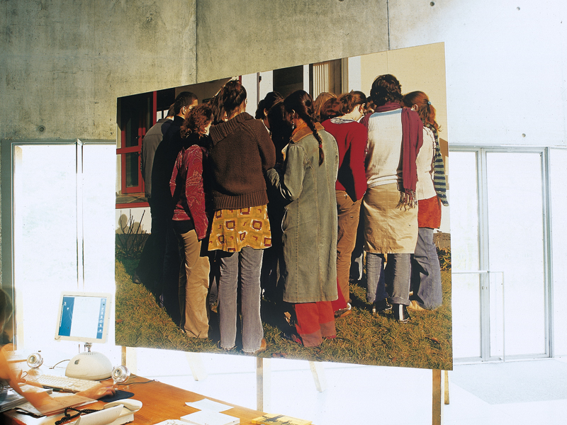 Photo de classes, FRAC Pays de la Loire (2005), vue de l'exposition Stéphane Bellanger.